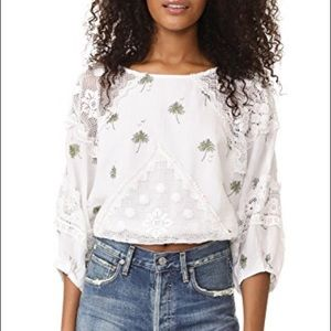 FREE PEOPLE | Carolina Mindset Linen Crop Top NWT